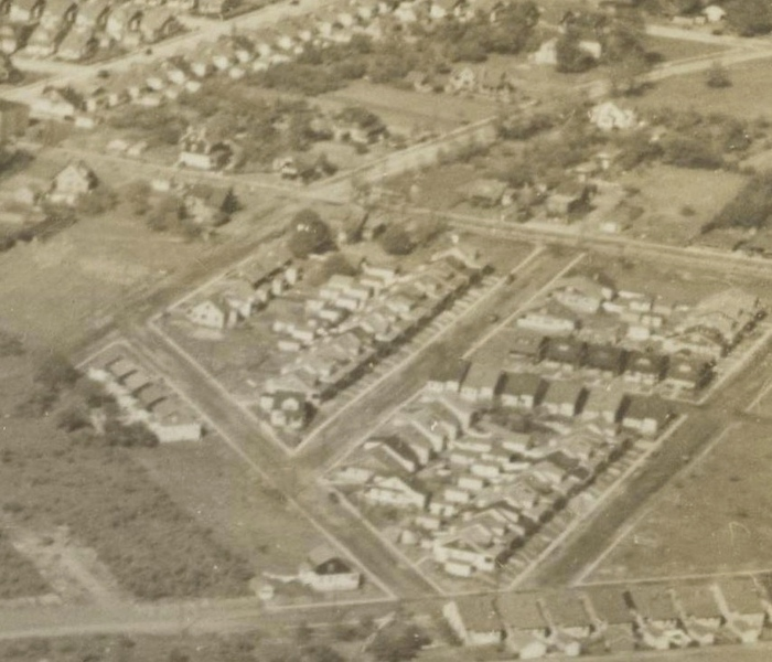 1947 Aerial View looking north west from Galloping Hill Golf Course toward Chestnut St.  Vassar St. etc.