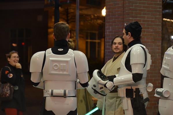 Star Wars: The Force Awakens opening night