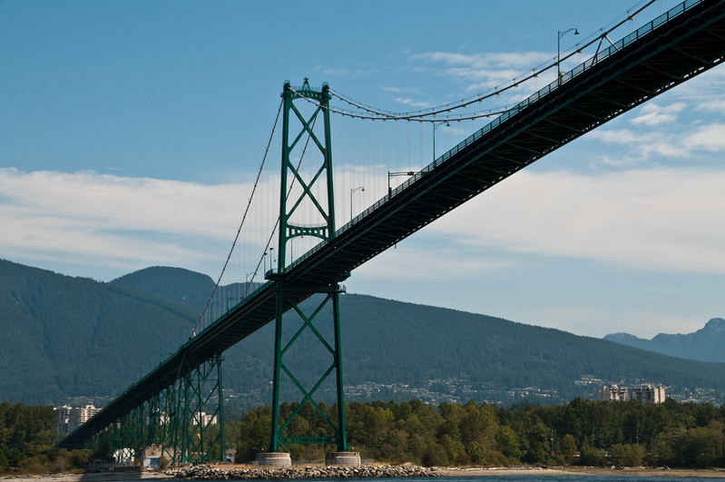 Another angle on Lion's Gate Bridge.