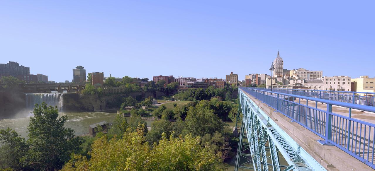 Pont de Rennes Bridge and High Falls