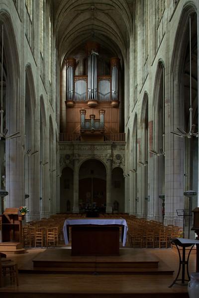 Gisors, Saint-Gervais-Saint-Protais Church  Nave and Organ Loft