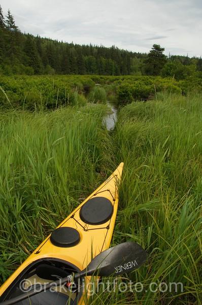 Kayaking on Bonus Lake