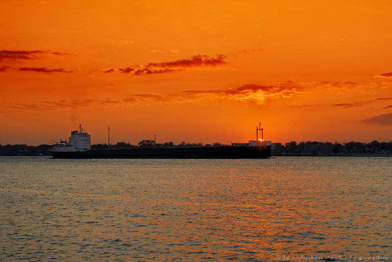 This is what I saw as I was coming out of the office yesterday. This is Port Huron, MI across the river. Have a great day, JY
