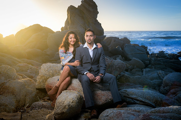 G and Jo Engagement @ Carmel River State Beach / Wedding Rock
