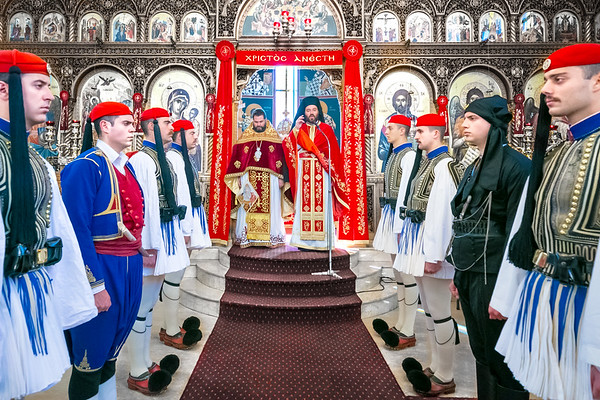 2017 Greek Orthodox Parish of Kogarah with Presidential Guards of Greece (Evzones) Sydney Australia
