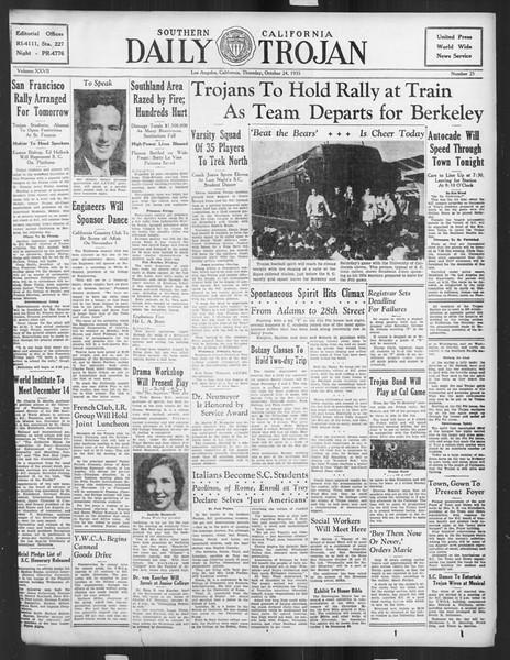 Daily Trojan, Vol. 27, No. 25, October 24, 1935