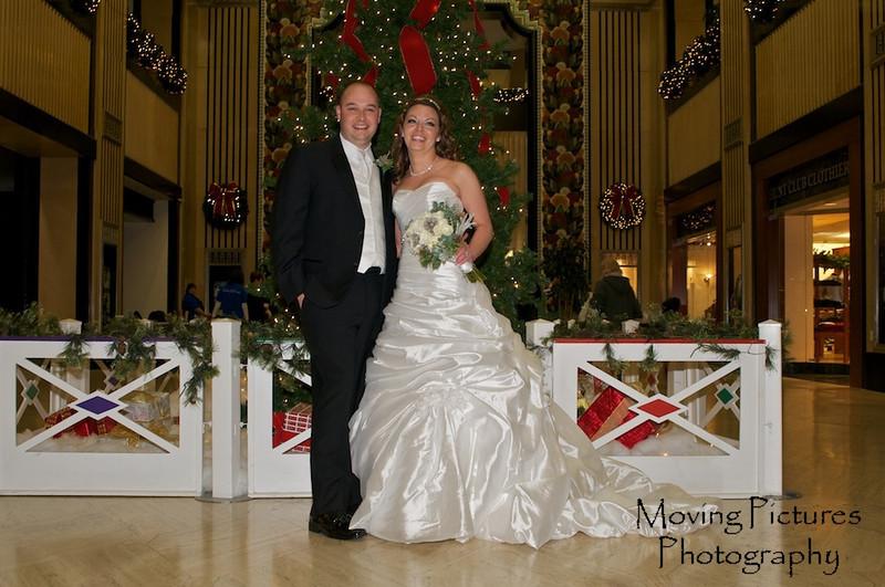 Erin & Evan Wedding - in the Carew Tower Arcade