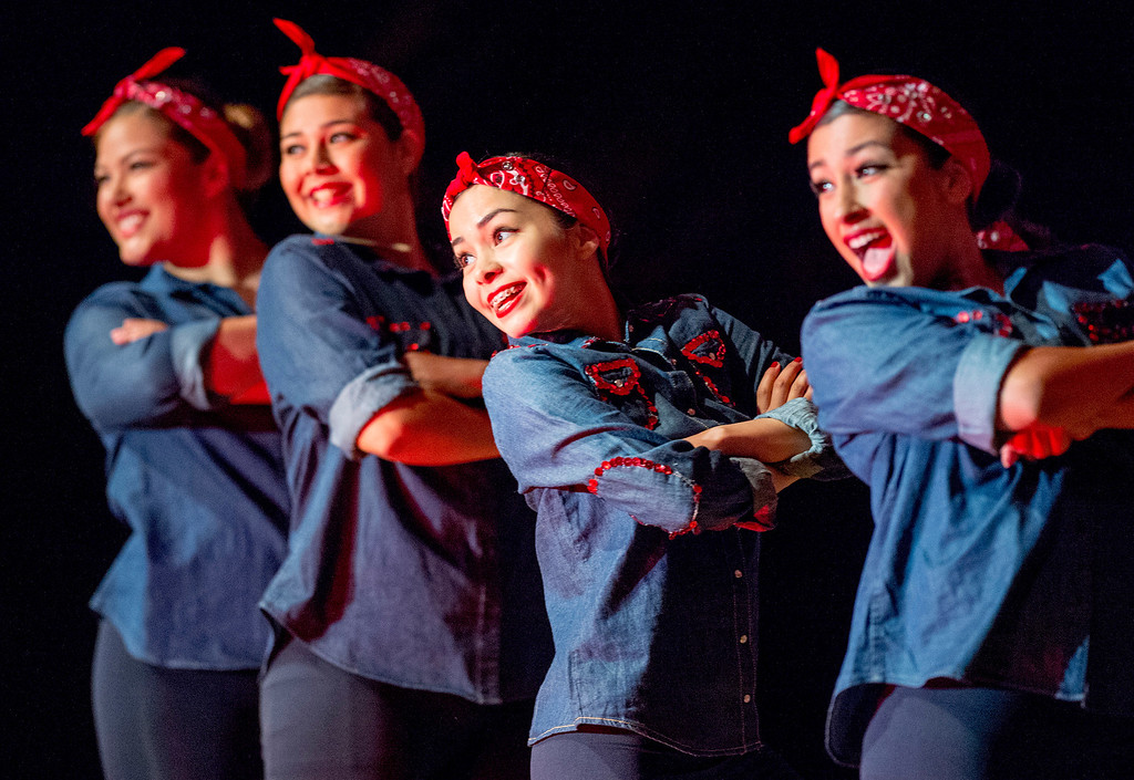 . The Fabulous Forties during Pioneer High School presents a preview of its 50th annual Titanette Revue entitled Luv to Dance at the Whittier campus April 17, 2013.   (SGVN/Staff photo by Leo Jarzomb)