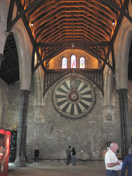 The Round Table in the Great Hall of Winchester Castle has been dated between 1250 and 1280.