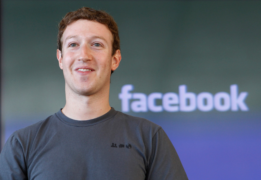 . 2010: Mark Zuckerberg. Facebook CEO Mark Zuckerberg smiling at an announcement in San Francisco in November 2010. (AP Photo/Paul Sakuma, file)