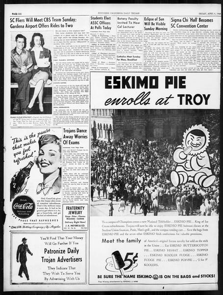 Daily Trojan, Vol. 31, No. 118, April 05, 1940