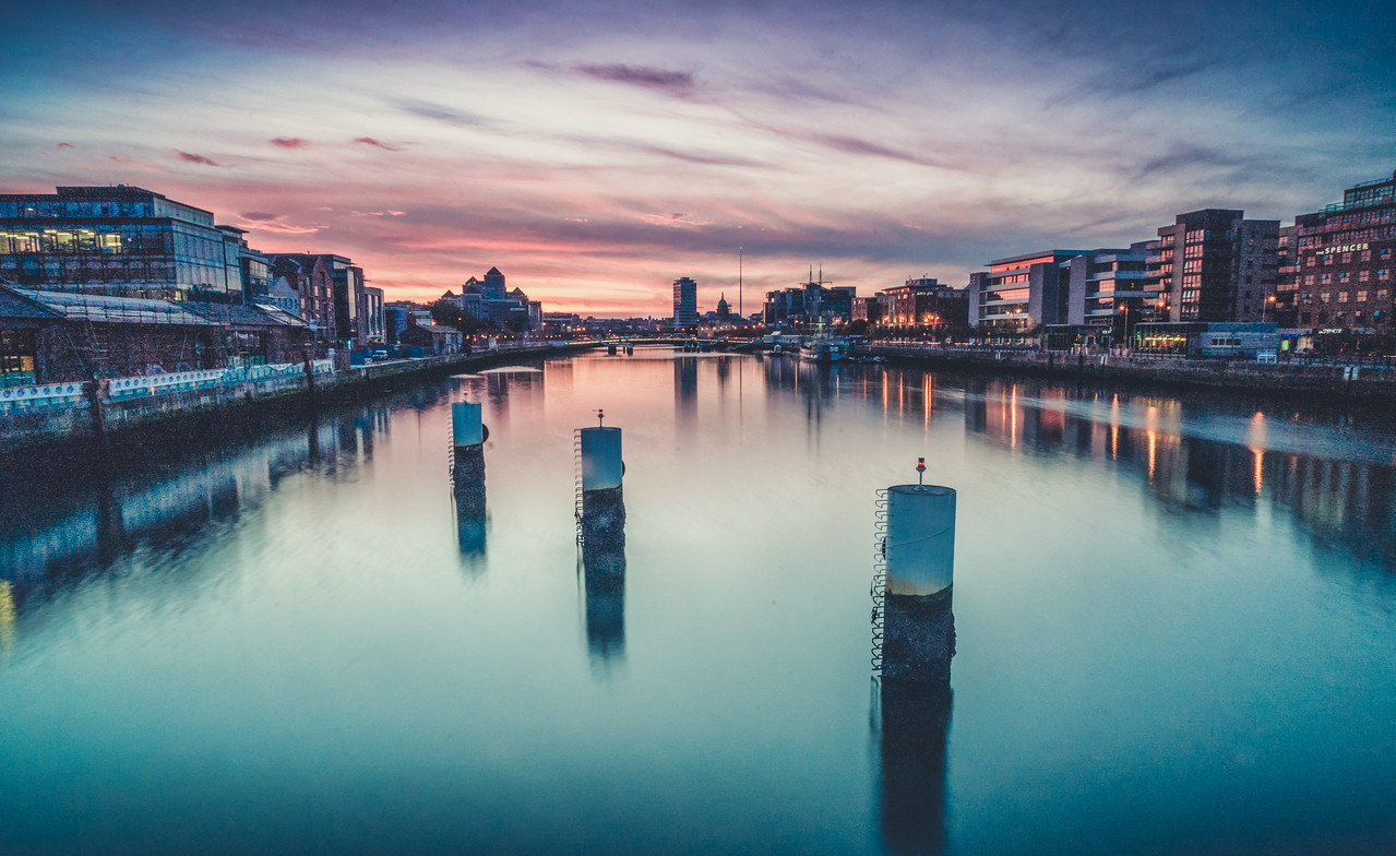 The Famous River Liffey in Dublin, Ireland (Photo by Neil Arthurs)