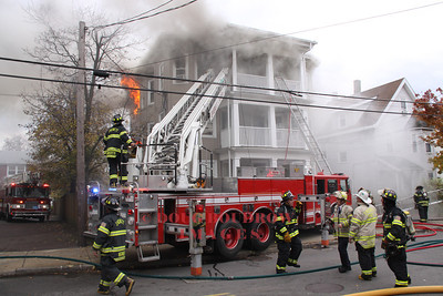 Everett, MA - 3rd Alarm, 93 Linden Street, 11-14-11
