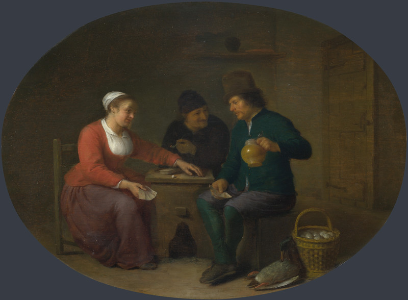A Woman playing Cards with Two Peasants