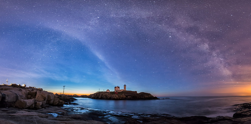 Nubble Lighthouse and Milky Way, Cape Neddick, Maine