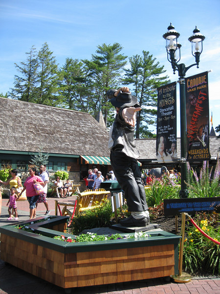 The Michael Jackson statue is now protected by a planter.