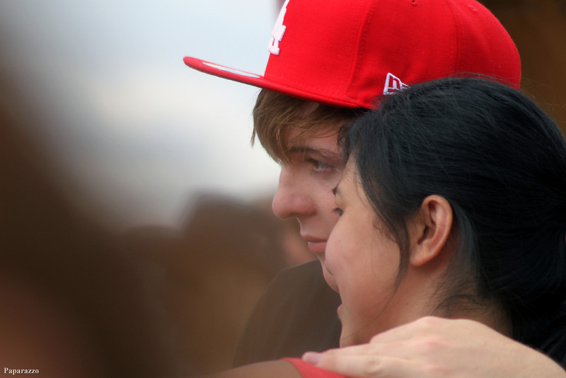 Ryland Lynch poses with a fan after the R5 concert at the 30th Annual New Jersey Festival of Ballooning held on July 29, 2012 at Solberg Airport in Whitehouse Station, New Jersey.