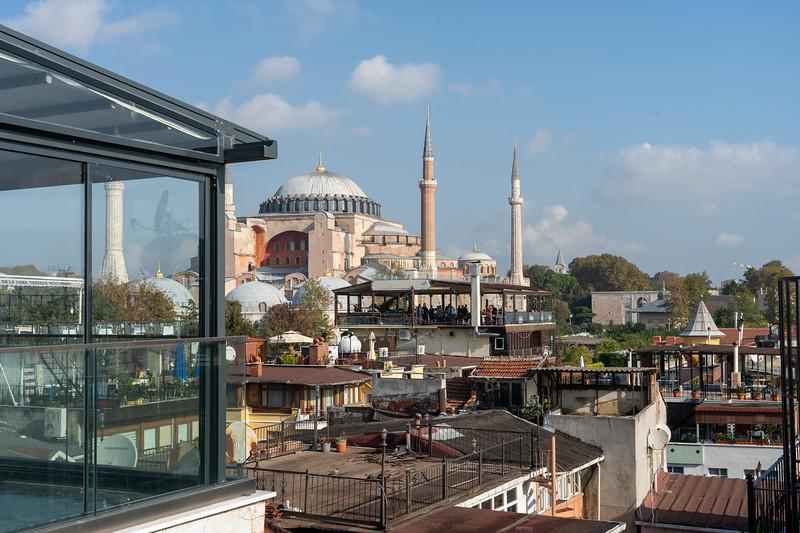 Hagia Sophia view from Magnaura Palace Hotel