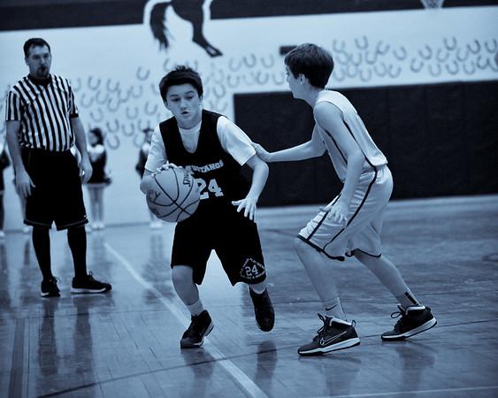 Junior Mustangs Basketball 1/18/15