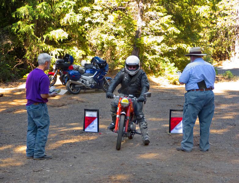 Harley arrives at Ralph and Santa Bob's checkpoint.