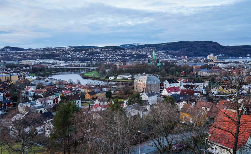 From gun emplacements above Trondheim