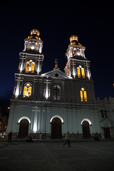 A lot of the churches in Cuenca looked better at night.