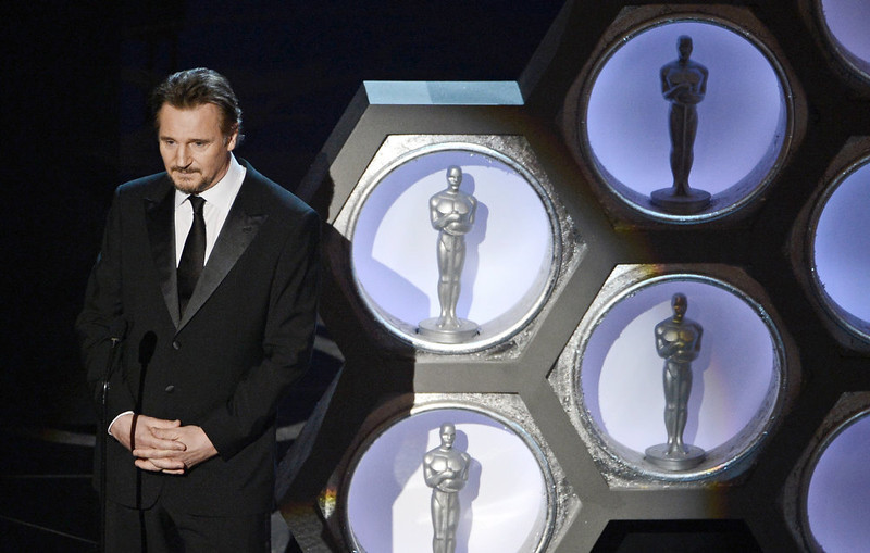 . Actor Liam Neeson presents onstage during the Oscars held at the Dolby Theatre on February 24, 2013 in Hollywood, California.  (Photo by Kevin Winter/Getty Images)