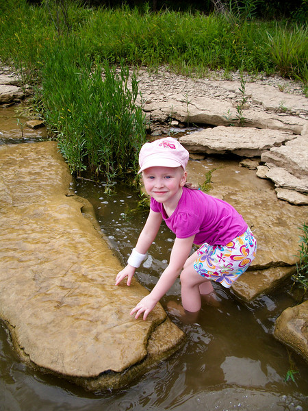 Chloe loved stepping into the water.  Dad held her hand most of the time.