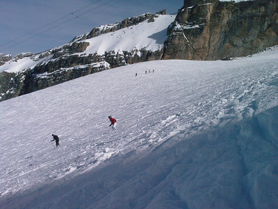 Skiing on Titlis, March 2008