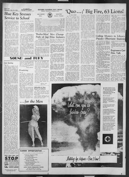 Daily Trojan, Vol. 43, No. 67, January 10, 1952