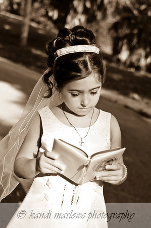 Antonia's First Holy Communion