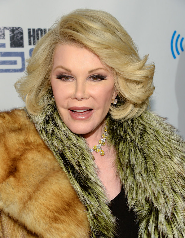 ". Joan Rivers attends ""Howard Stern\'s Birthday Bash\"", presented by SiriusXM, at the Hammerstein Ballroom on Friday, Jan. 31, 2014 in New York.  (Photo by Evan Agostini/Invision/AP)"