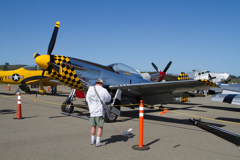 There were an incredible number of P-51s on display.