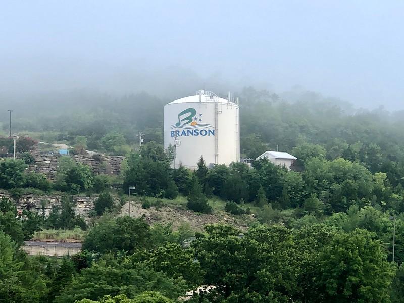 Water tank above Shepherd of the Hills Expressway (2020)