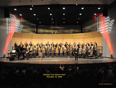 Michigan Tech Concert Choir, Nov. 2008