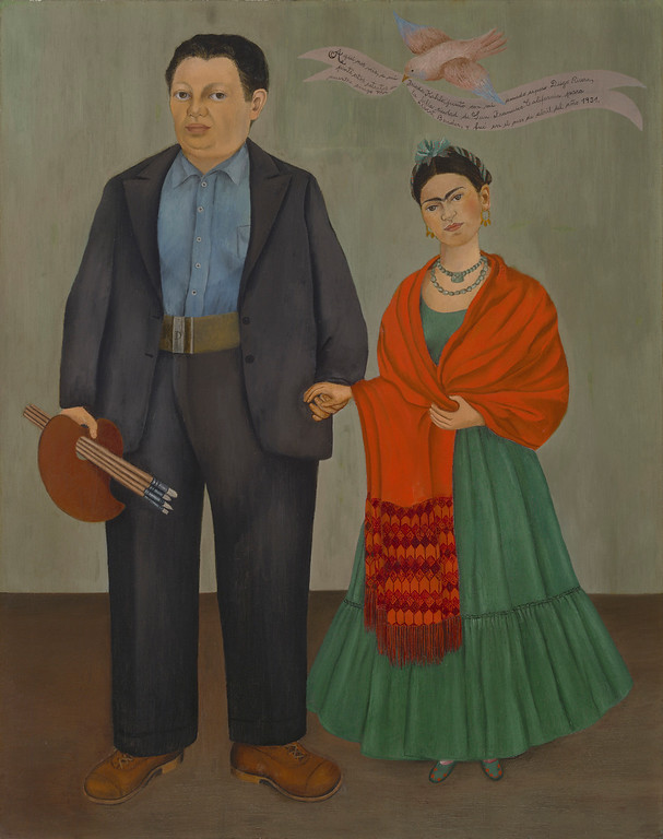 . Frieda and Diego Rivera, Frida Kahlo, 1931, oil on canvas, San Francisco Museum of Modern Art, Albert M. Bender Collection, Gift of Albert M. Bender