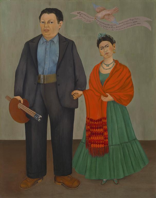 . Frieda and Diego Rivera, Frida Kahlo, 1931, oil on canvas, San Francisco Museum of Modern Art, Albert M. Bender Collection, Gift of Albert M. Bender