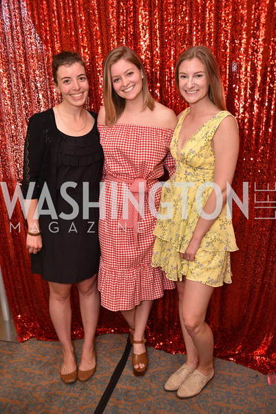 Courtney Wilkes, Stephanie Wilkes, Chelsea Wilkes, Patrons at the National Theatre, The Waitress, June 3, 2018 -9067.JPG