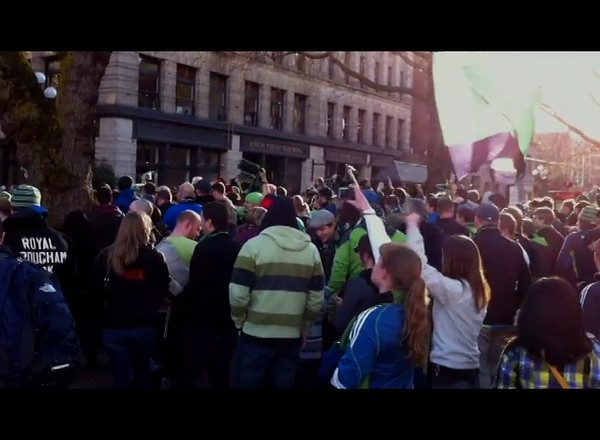 Seattle Sounders March to the Stadium.mov