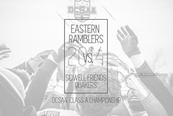 Eastern vs Sidwell Friends - DCSAA Class A Championship