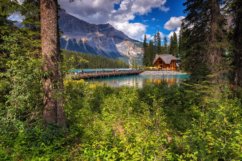 Emerald Lake, Yoho National Park. British Columbia, Canada.