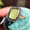 'Faithful & Firm' Yellow Chalcedony Ring, by Seal & Scribe 23