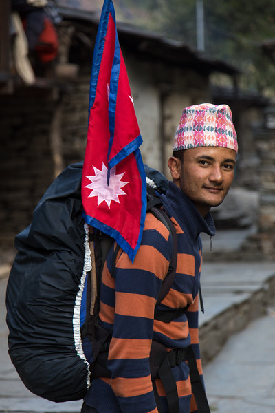 Our Guide with Flag