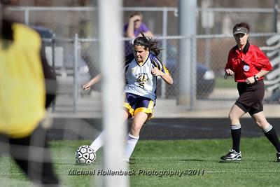Valley Lutheran girls soccer 2011 April 29.