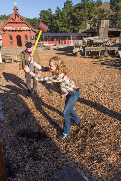 Tight girls can swing hard too!
