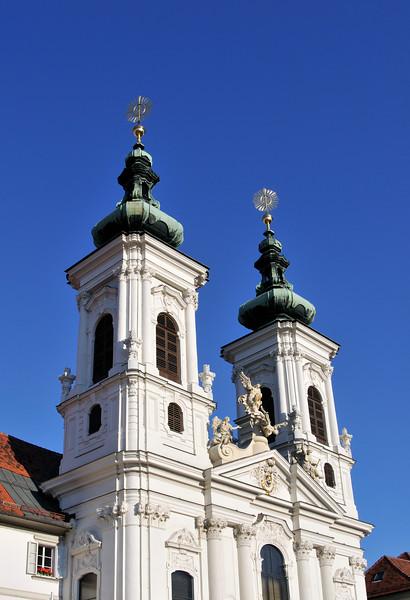 Mariahilf Convent and Church in Graz, Austria