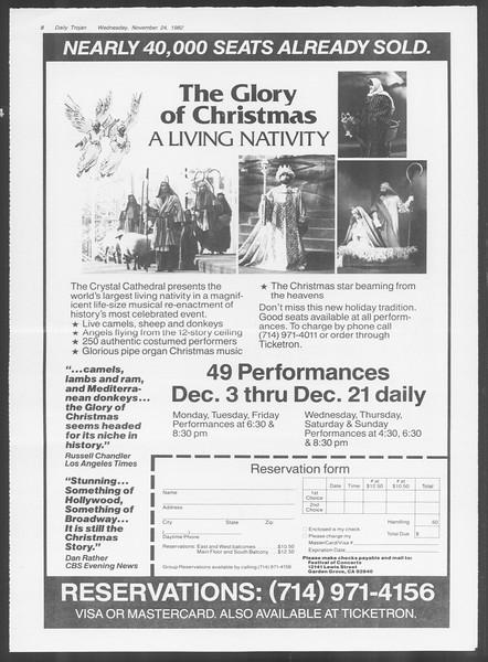 Daily Trojan, Vol. 92, No. 56, November 24, 1982