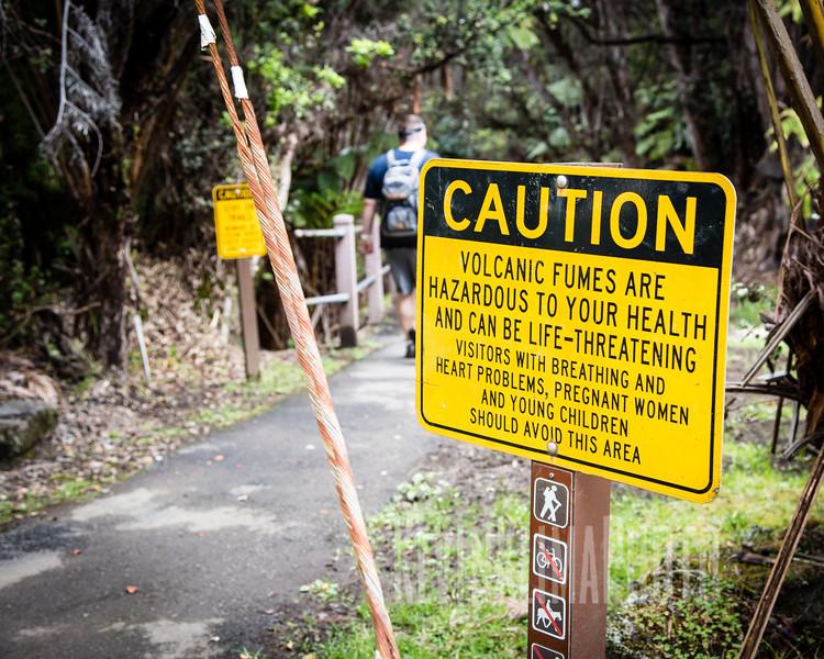 Caution - Volcanic Fumes