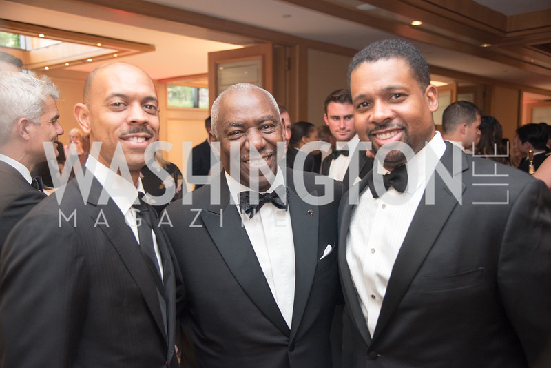 Charles Monterio, Thomas Morehead, Earl Stafford, Jr., Harvard Business School, Leadership Gala, DC, The Four Seasons, June 13, 2018.  Photo by Ben Droz.