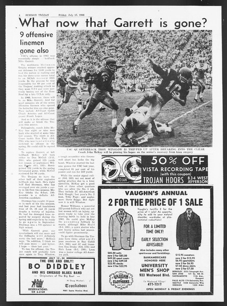 Summer Trojan, Vol. 17, No. 7, July 15, 1966